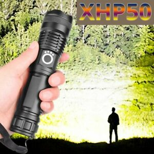 LED Taschenlampe Extrem Hell 990000 Lumens CREE Zoom Taktische Flashlight 26650