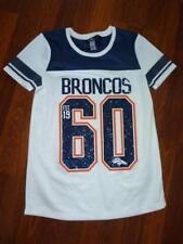 Girl s (L) DENVER BRONCOS Glitter SS Jersey NFL Apparel Shirt...size 219de7dfa