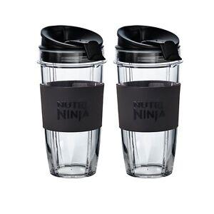 2 x Large 650ml Nutri Ninja Cups with Sip & Seal Lids