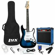 LyxPro 39 inch Electric Guitar Kit Bundle with 20w Amplifier, All Accessories, D