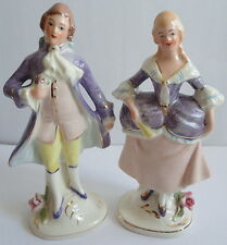 Coventry Figurines 1950's Vintage Ceramic Courting Couple Purple Lilac Rosamund&
