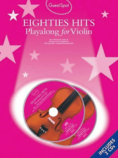 EIGHTIES POP CHART HITS FOR VIOLIN Sheet Music Book & 2 CDs 1980s 80s ShopSoiled