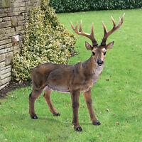 """Big Rack Buck Deer Design Toscano 24½"""" Hand Painted Indoor Outdoor Statue"""