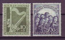 Berlin 1950 postfrisch MiNr. 72-73 Berliner Philarmmonie