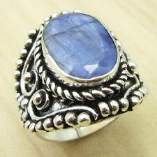 925 Silver Plated Ring !! Fancy SAPPHIRE Size US 7 BIRTHSTONE Gift ONLINE STORE