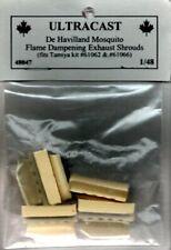 Ultracast 1:48 De Havilland Mosquito Flame Dampening Exhaust Shrouds #48047
