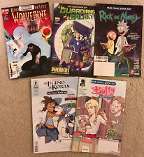 Lot of 5 Graphic Comics:  Guardians of the Galaxy, Wolverine, Buffy the High Sch