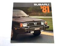 1981 Subaru 12-page Car Sales Brochure Catalog - DL GL Sedan 4wd Wagon Brat