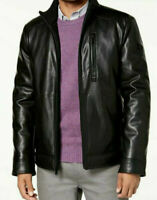 Calvin Klein Faux Leather Jacket in Black Size Small, Medium or Large  RRP $225