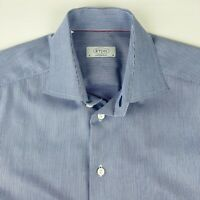 Eton Mens Luxury Dress Shirt L/S Size 16 - 41 Contemporary Fit Micro Houndstooth