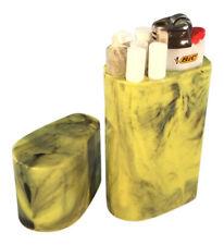 Smoke Space - Cigarette Case - Lighter - Smoking Accessories - (Yellow/Black)