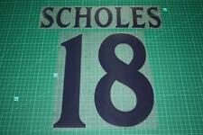 Manchester United 99/00 #18 SCHOLES UEFA Chaimpons League Awaykit Nameset Print