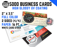 5000 Full color Business cards High Glossy UV Both Sides Best Price!