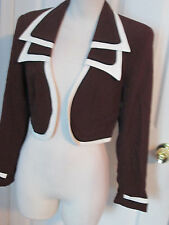 vintage cache bolero jacket brown 4 and matching top p 2 pc set