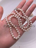 White AAAA 7-6MM SOUTH SEA NATURAL  PEARL NECKLACE 14K CLASP