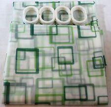 Cortina de ducha cuadrado verde en nueva marca Hermosos Diseños