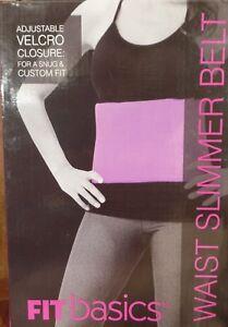 "Fit Basics Waist Slimmer 8"" Belt, Purple, Adjustable, Lose Weight! FREE Shipping"
