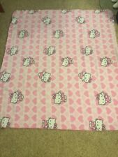 "Hello Kitty 54""x48"" Pink Fleece Blanket Toddler, Child Throw"
