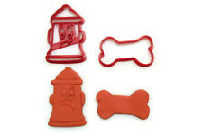 Fire Hydrant and Dog Bone cookie cutter set
