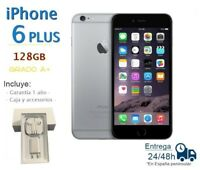 APPLE IPHONE 6 PLUS 128GB GRIS LIBRE GRADO A+ / CAJA Y ACCESORIOS 1 AÑO GARANTIA