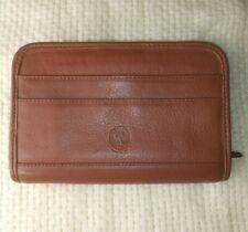 Levenger Brown Genuine Leather Organizer Planner Notebook Book Cover Binder