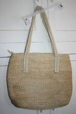 Vintage Mister Ernest Handbag Inc Lined Straw Large Beach Tote