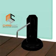 20% OFF ✔ Black Stainless Steel Spigot Glass Pool Balustrade Spigots Fence Round