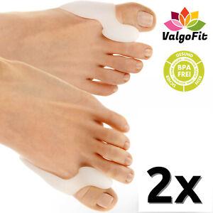 Zehenspreizer Hallux Valgus [2x] mit Ballenschutz Zehenschutz Schienen Bandage