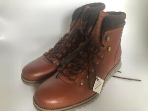Cole Haan Saddle Leather Lace Up Mid-Top Hiker Comfort Boots NWOB size 7.5