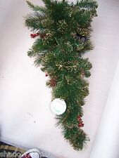luxury large christmas gold fir spray wall decoration with golden glitter tips
