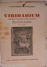 VIRIDARIUM Antologia di prosa e poesia latina Vol I G Gallavotti F Cupaiuolo di