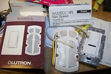 new Lutron MIR-FQ4FM-WH  White Maestro IR 120 Volt 4 Ampere Single Pole switch