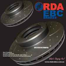 COMMODORE REAR BRAKE DISCS SLOTTED vl vn vp vr vs & GP MAX BRAKE PADS