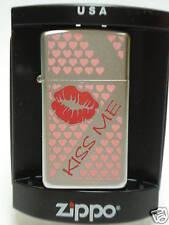 """Slim Zippo """" Kiss Me """" Para Día de San Valentín- NUEVO- 403"""