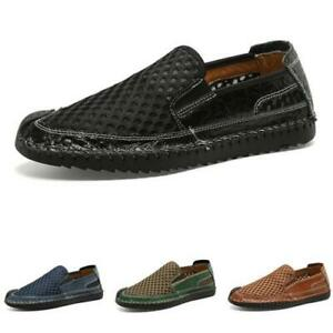 Mens Pumps Slip on Loafers Mesh Breathable Casual Driving Moccasins Shoes 38-47
