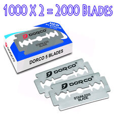 2000 Dorco Double Edge Razor Blades ST300-Stainless Fast Shipping 2 x 1000
