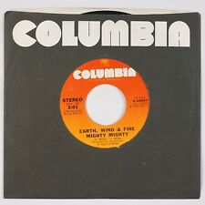 """EARTH, WIND & FIRE: Mighty Mighty / Drum Song USA 7"""" Columbia Funk Soul 45 NM-"""