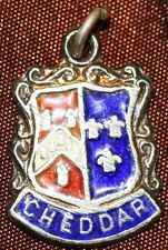 925 SILVER CHEDDAR HOLIDAY BADGE CHARM COAT OF ARMS