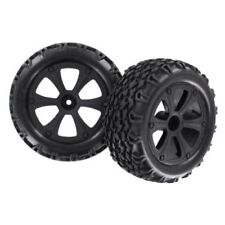 Redcat Racing BS214-0091/10 Black Rims w/ Tires, 2 Pcs for Blackout SC XBE XTE