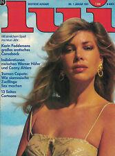 Lui 1,01/1981 Januar,Karin Fedderson - 11 Seiten,Hans Fallada,...SEHR GUT!