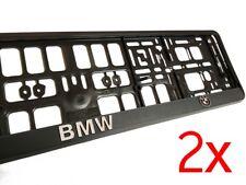 2X 3D BMW European Euro License Number Plate Holder Mounting Frame German EU