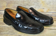 Mens Cole Haan Black Leather Moc Toe Loafer Shoes Air  8.5 M