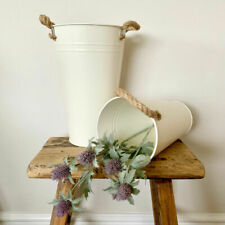 Rustic Cream Tall Vase  with Chunky Rope Handles - 3 sizes available