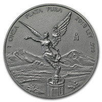 2019 Mexico 1 oz Silver Libertad Antique Finish 1,000 Mintage vs 40,000 for 2018