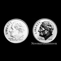 2017 2018 S+S Roosevelt Dime Reverse Silver & Enhanced BU from Mint Proof Set