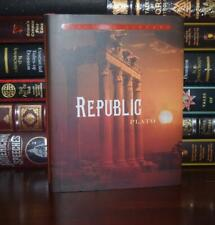 Republic by Plato Philosophy Brand New Hardcover Dust Jacket Deluxe Gift