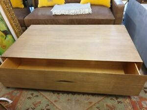 Timothy Oulton style  Reclaimed Oak Coffee Table Iron base/2 Draw £1,950