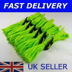 X6 FLUORESCENT GREEN / YELLOW Guy Line Ropes 2.4 M Tent Camping bright rope