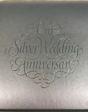 CR Gibson Our Silver Anniversary Guest Gift Book - 25th Wedding Book Silver
