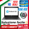 "PC NOTEBOOK HP PROBOOK 430 13.3"" CPU INTEL i3-4°gen 4GB RAM +KEY WIN 10 PRO 24H!"